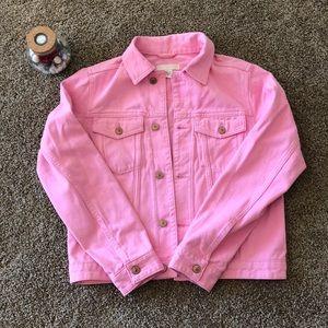 Denim bubblegum pink color jacket